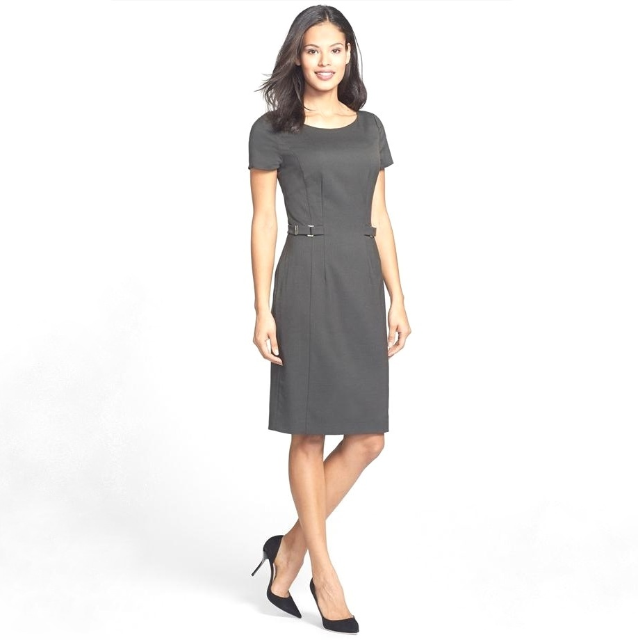Princess Mary Style - Danota Side Buckle Sheath Dress - BOSS HUGO BOSS