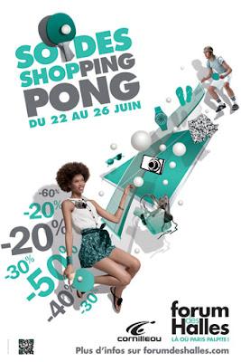 Soldes d'été ShopPING-PONG au Forum des Halles