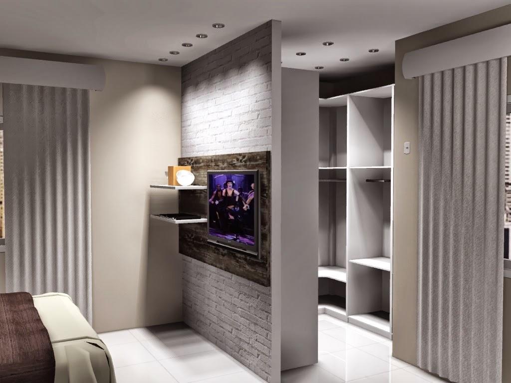 Projeto Completo de Quarto de Casal Planejado com Closet Bella Kaza  #966535 1024 768