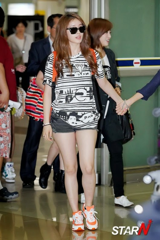airport fashion  t-ara jiyeon