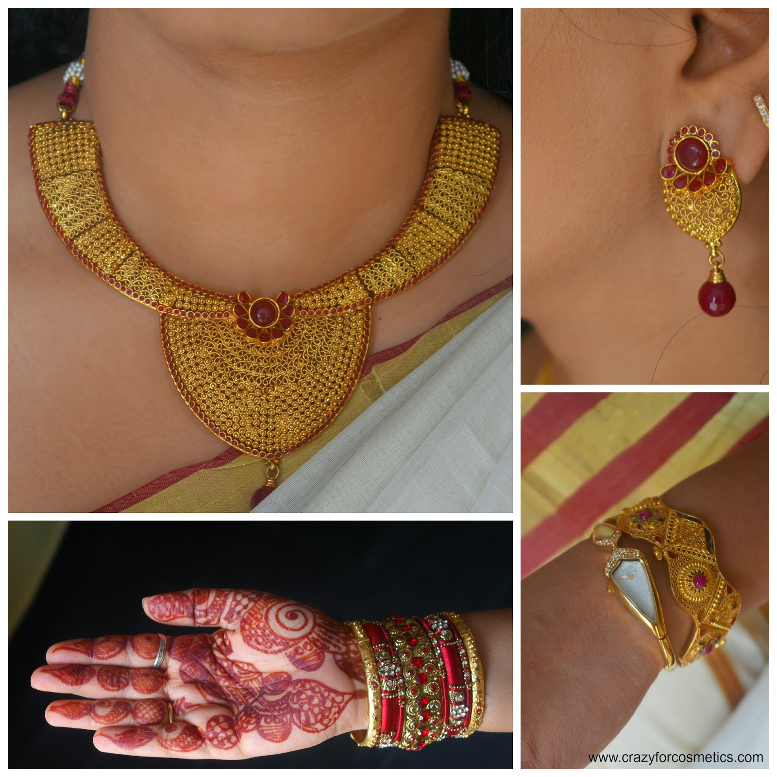 Gold jewelry for a wedding