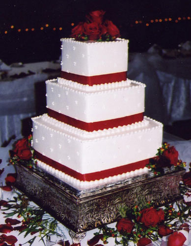 square wedding cake images
