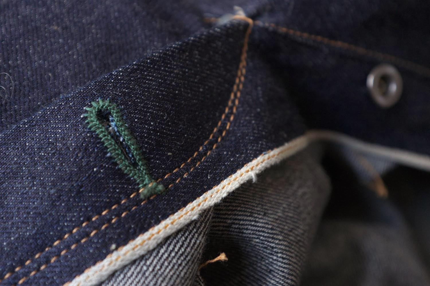 Brown-Duck & Digger 12.5 oz Rough Riders - fly detail