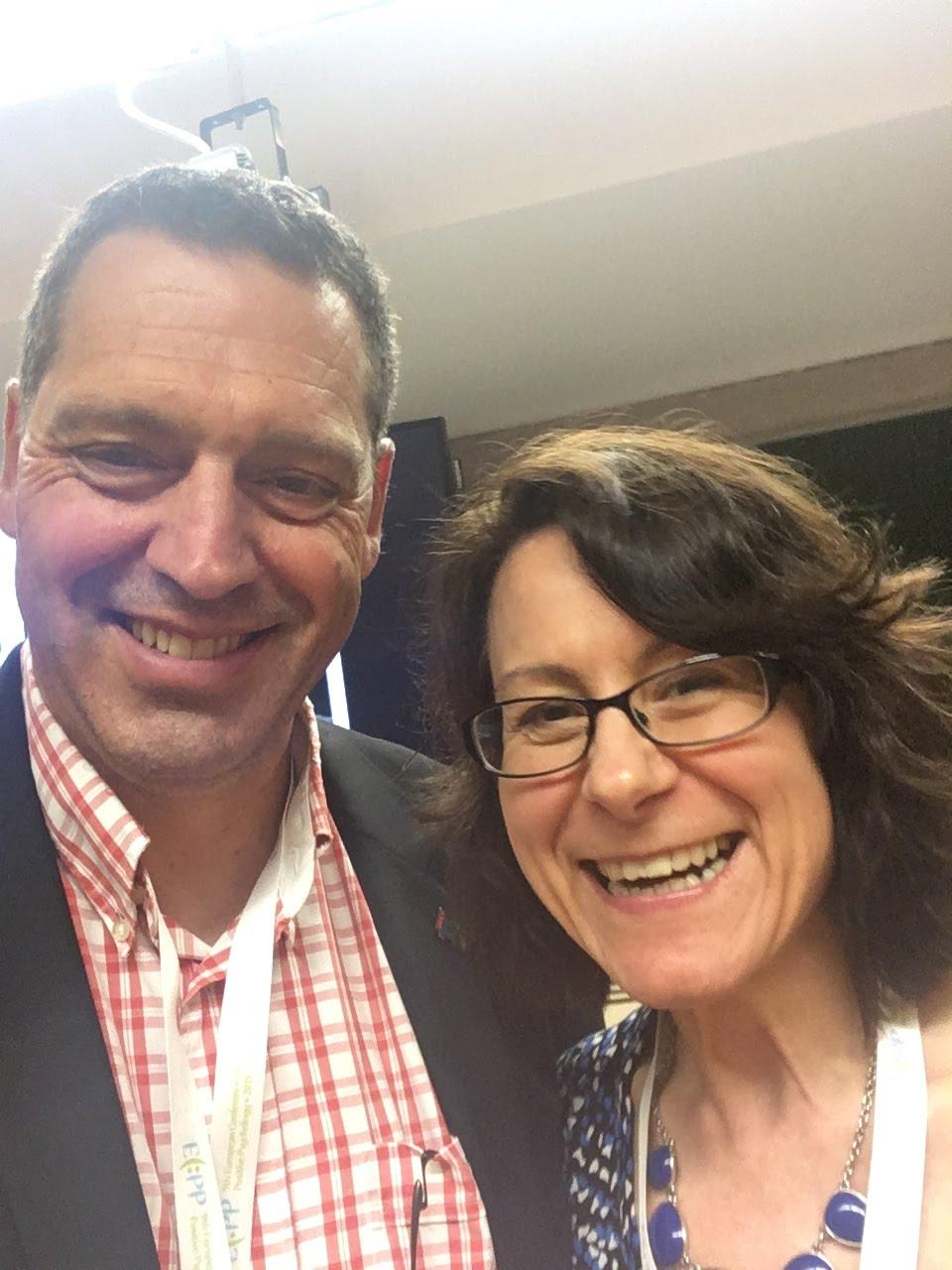 Avec Bridget Grenville-Cleave...