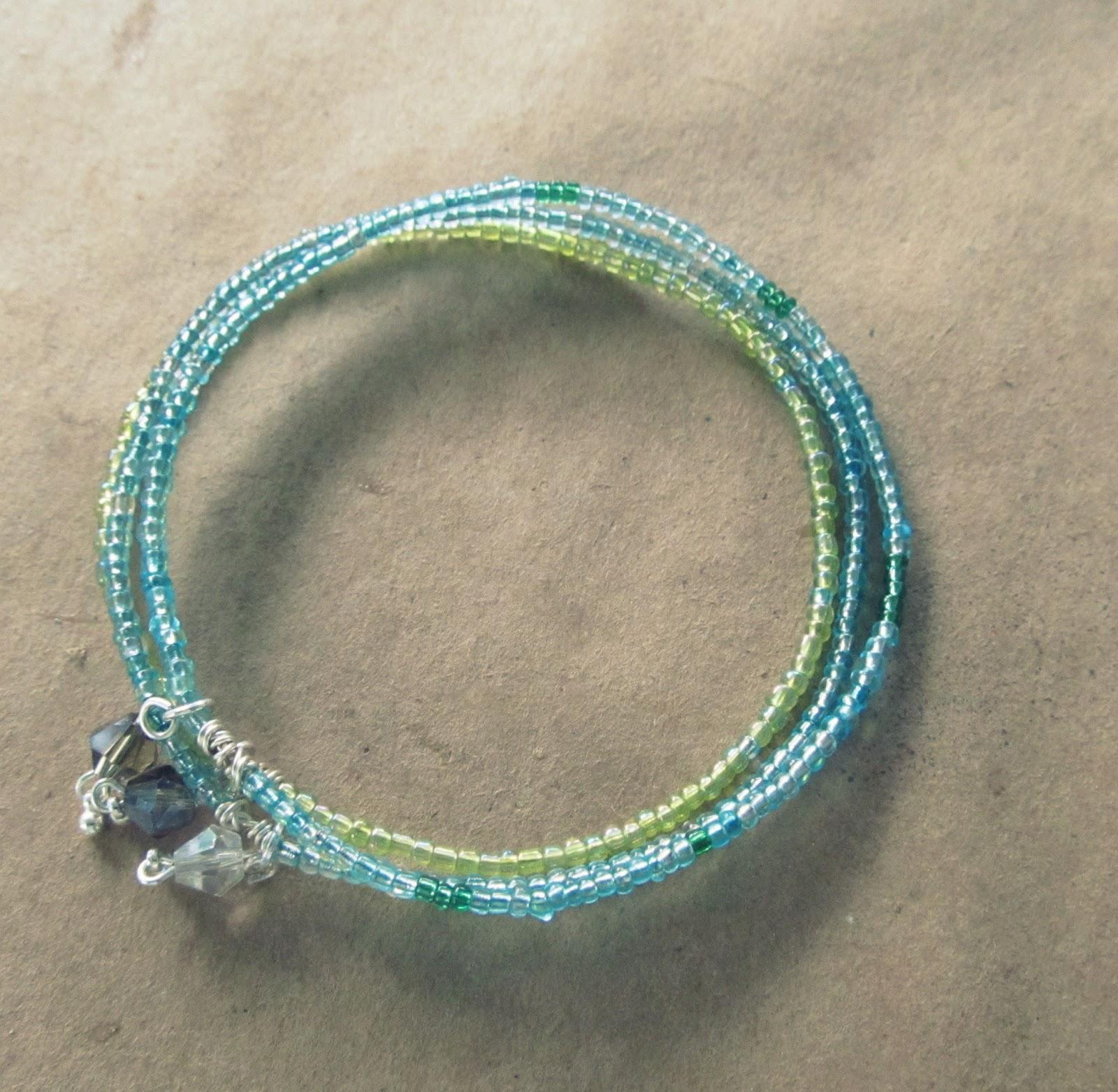 wobisobi seed bead bangle bracelet diy