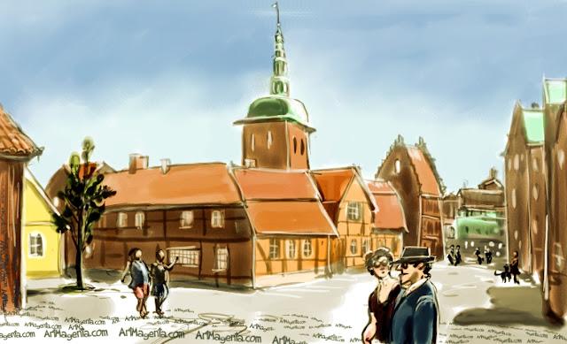 Ystad by Artmagenta