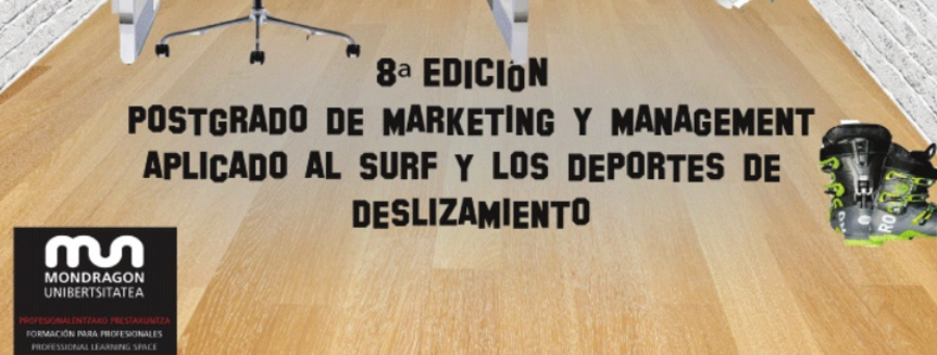 Postgrado en Marketing aplicado al Surf y los deportes de deslizamiento