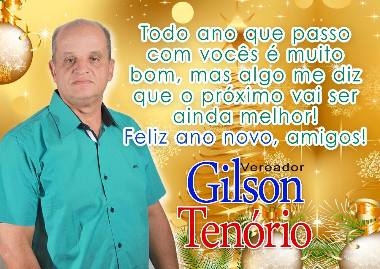Mensagem de Natal e Ano Novo do Vereador Gilson Tenório a todos de Inhapienses