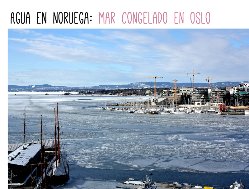 Noruega Oslo mar congelado