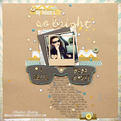 Gold Glitter_Sunglasses_Scrapbook_Washi