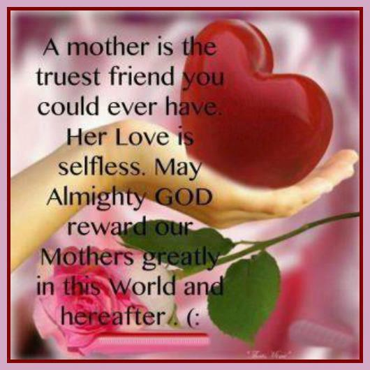 Rip Quotes For A Friends Mom : A mother is the true friend quote inspirational picture