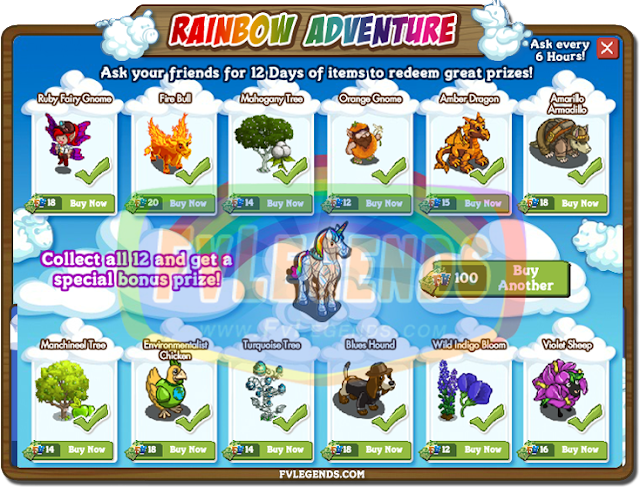 FarmVille Rainbow Adventure Countdown Leaked Prizes of All Days