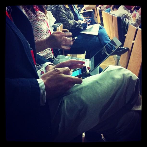 Tuiteando en un Congreso
