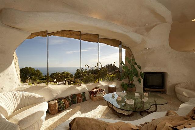 Casa dos Flintstones - sala de estar