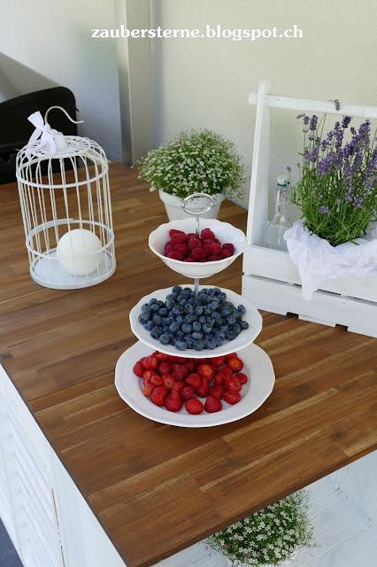 Shabby Chic Etagière, Früchteetagière, Outdoorküche