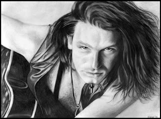 Bono from U2 pencil drawing artwork