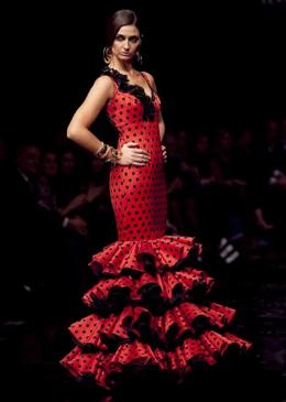 traje flamenca lunares