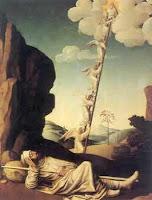 Pintura de Jacob y la escalera al Cielo