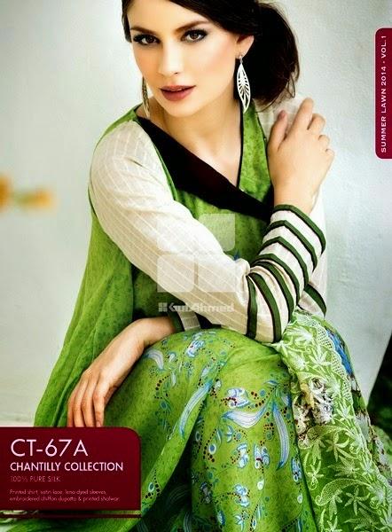 Gul Ahmed Pakistani Green Dresses