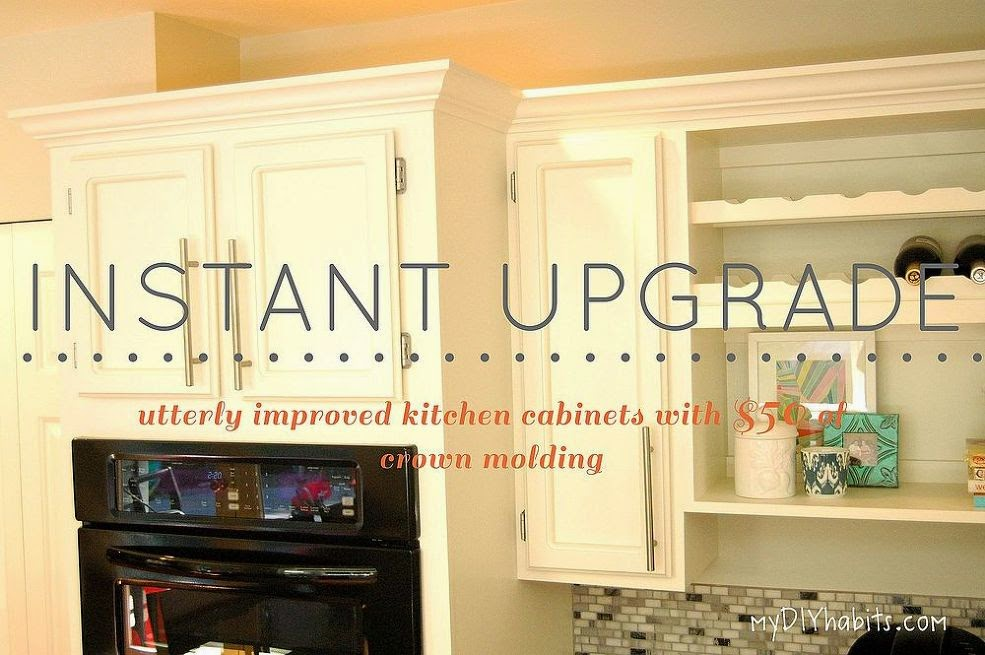 Love of homes money saving kitchen remodels for Add crown molding to kitchen cabinets