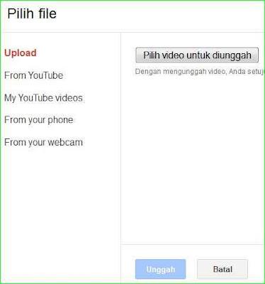 cara upload video ke blog