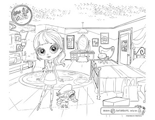 Littlest Pet Shop coloring pages Blythe n zoe