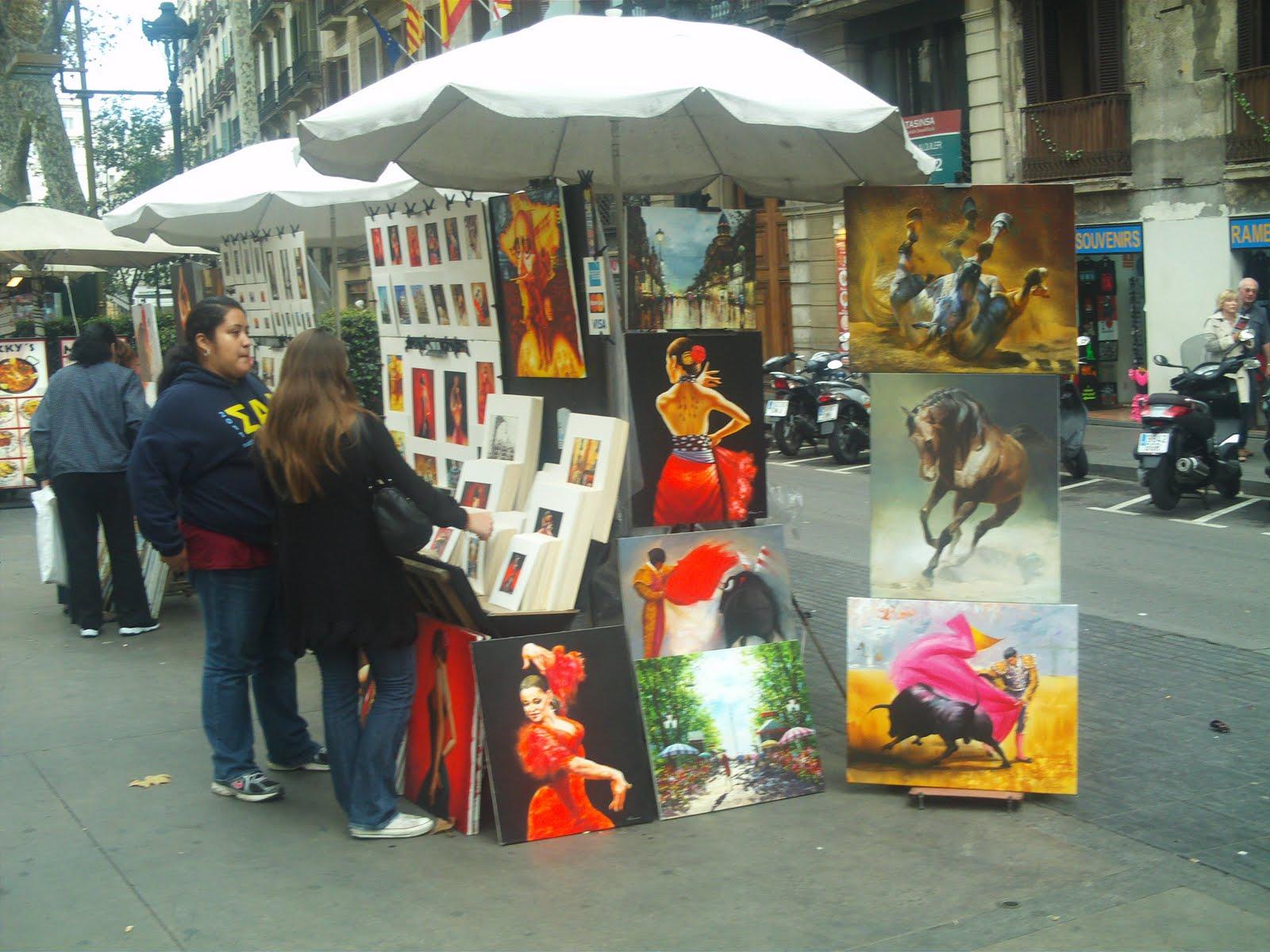 Arte pan el arte como alimento de la cultura pintores de la rambla de barcelona ii - Pintores de barcelona ...