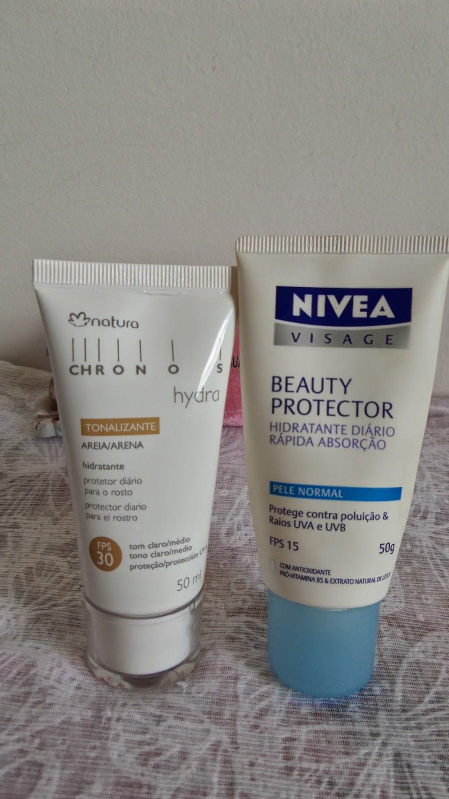 Hidratante Hydra Natura e Beauty Protector  Nivea
