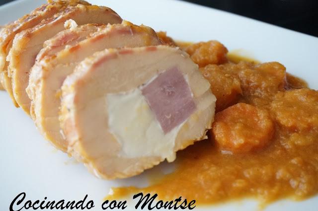 Cocinar Pollo Relleno | Cocinando Con Montse Pollo Relleno Con Salsa De Zanahorias