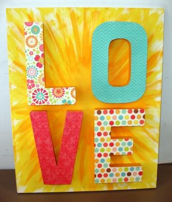 The Joy of Crafting: 14 days of Valentine\'s Day 4 - Wall Art