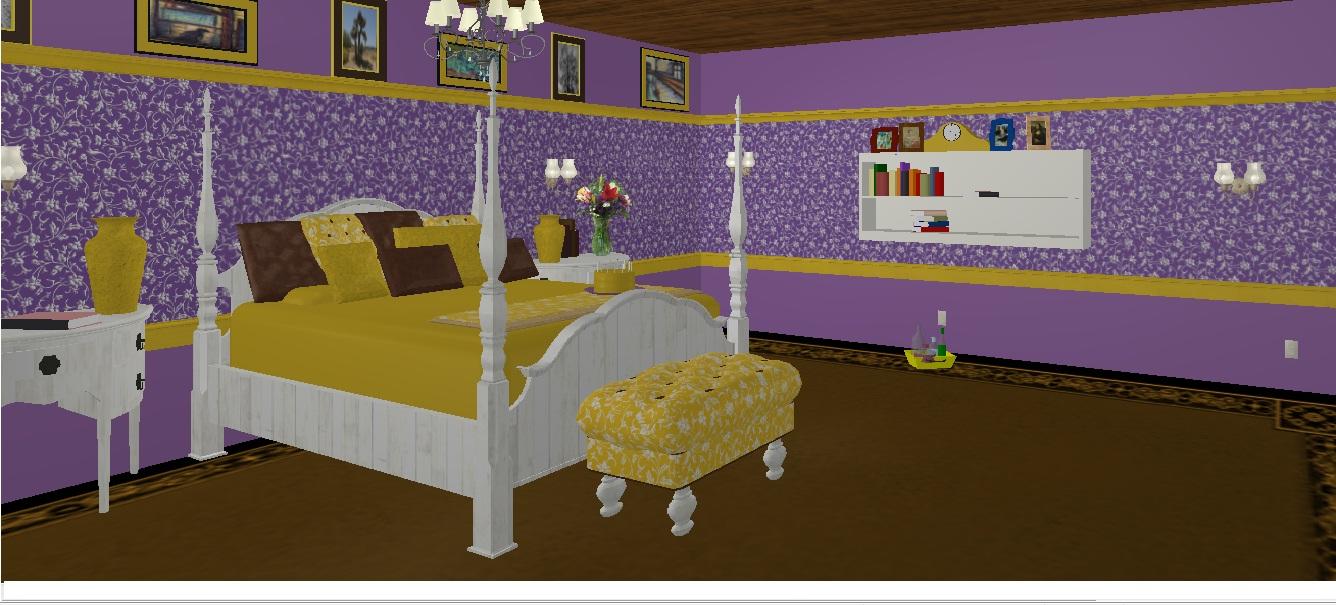 Cherishing spaces design of the week purple and yellow bedroom - Purple and yellow bedroom ...