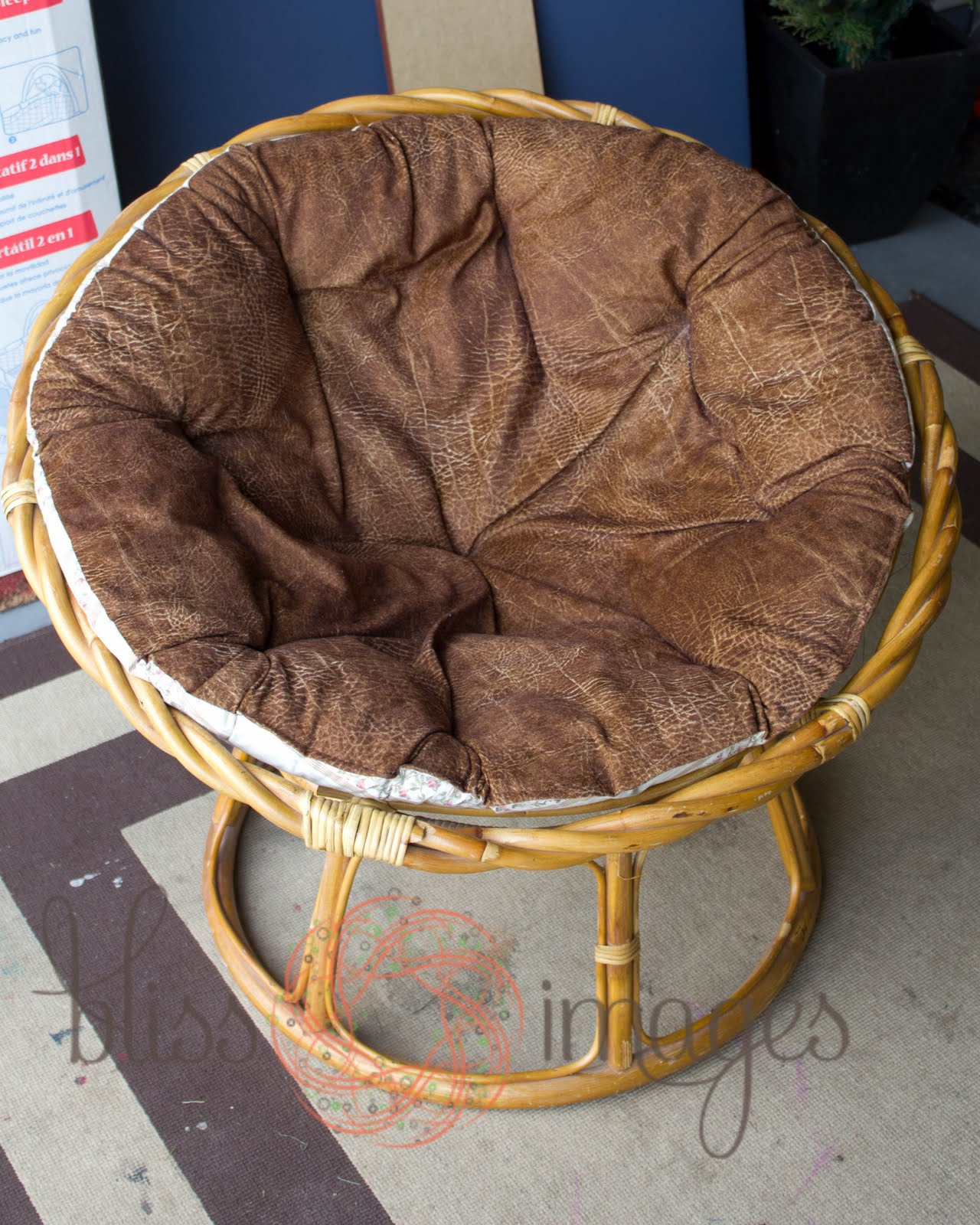 Bliss and Beyond Papasan Makeover
