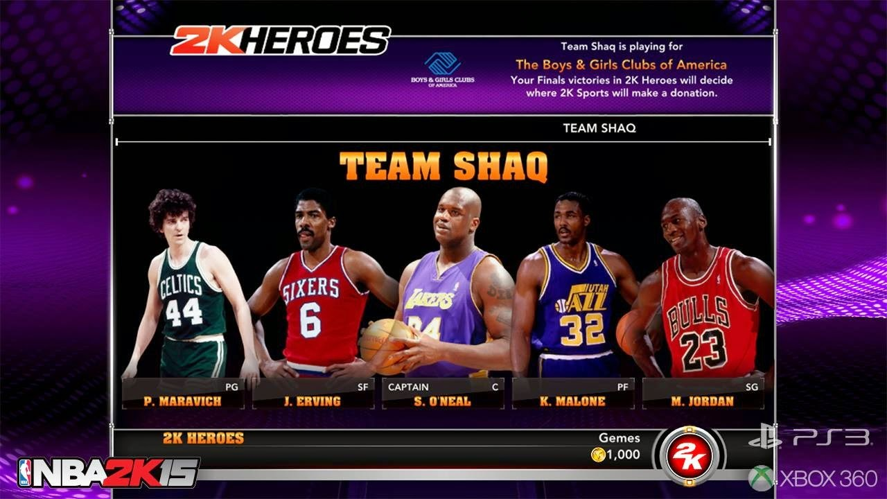 Team Shaq - NBA 2K15 2K Heroes Mode
