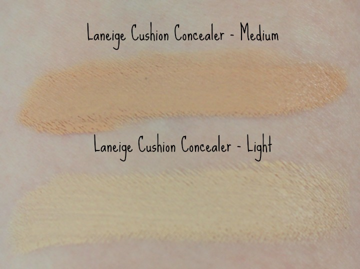 Laneige Cushion Concealer BB Target light medium swatch swatches