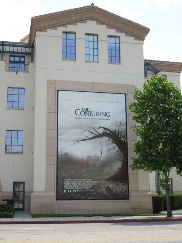 The Conjuring billboard Warner Bros Studios