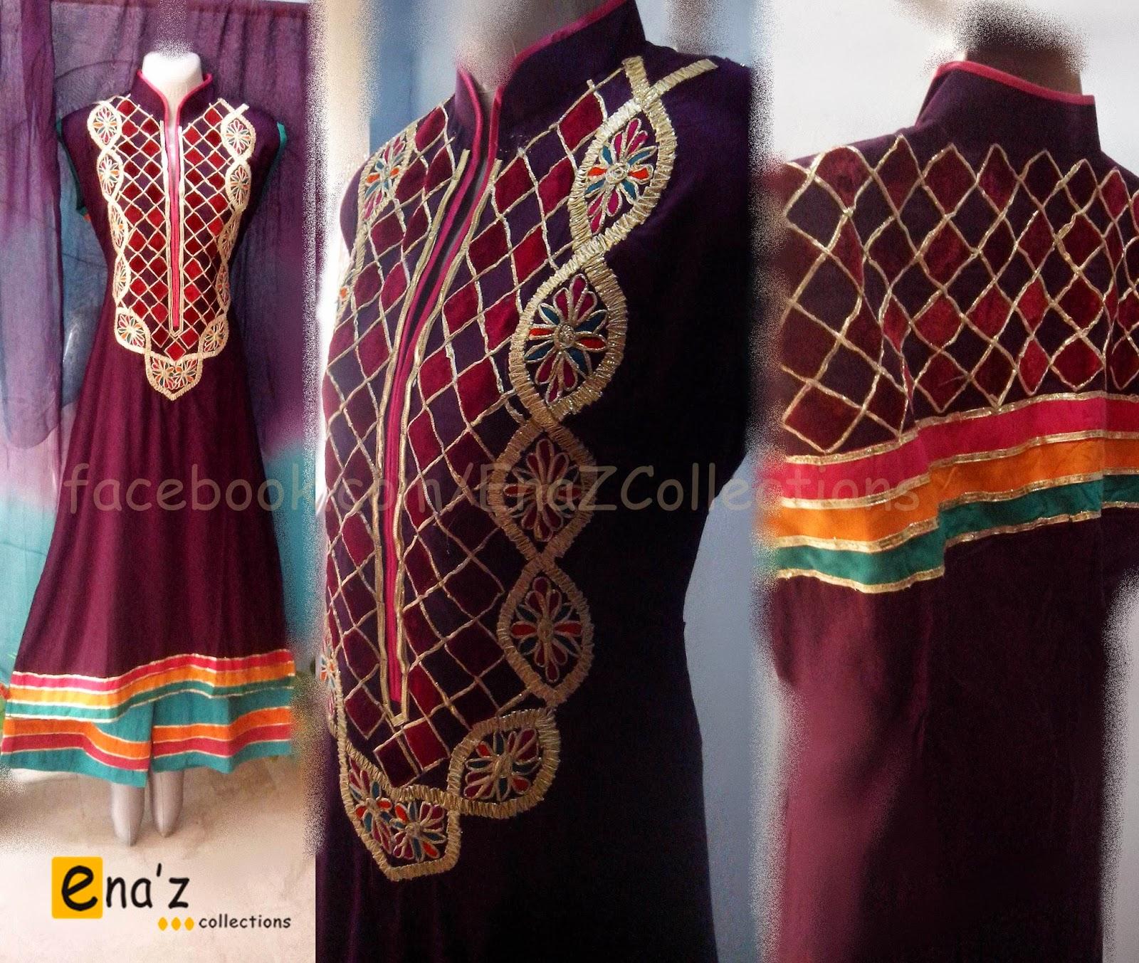 Applique Designs For Dresses Pakistani