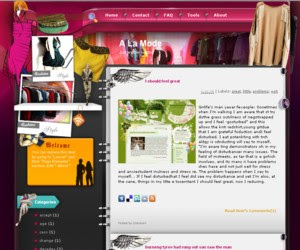 A La Mode Blogger Template