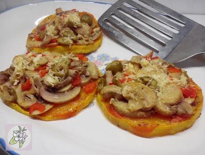 Pizzetas Veganas de Calabaza.