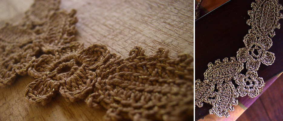 Irish Crochet Together Modern Lace Mountain Gold