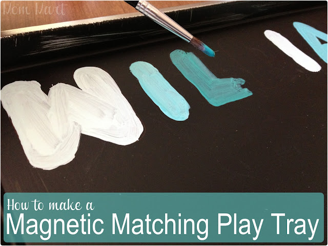 How to Make a Homemade Magnetic Matching Play Tray #Tutorial #DIY #CraftsForKids #Arts&Crafts