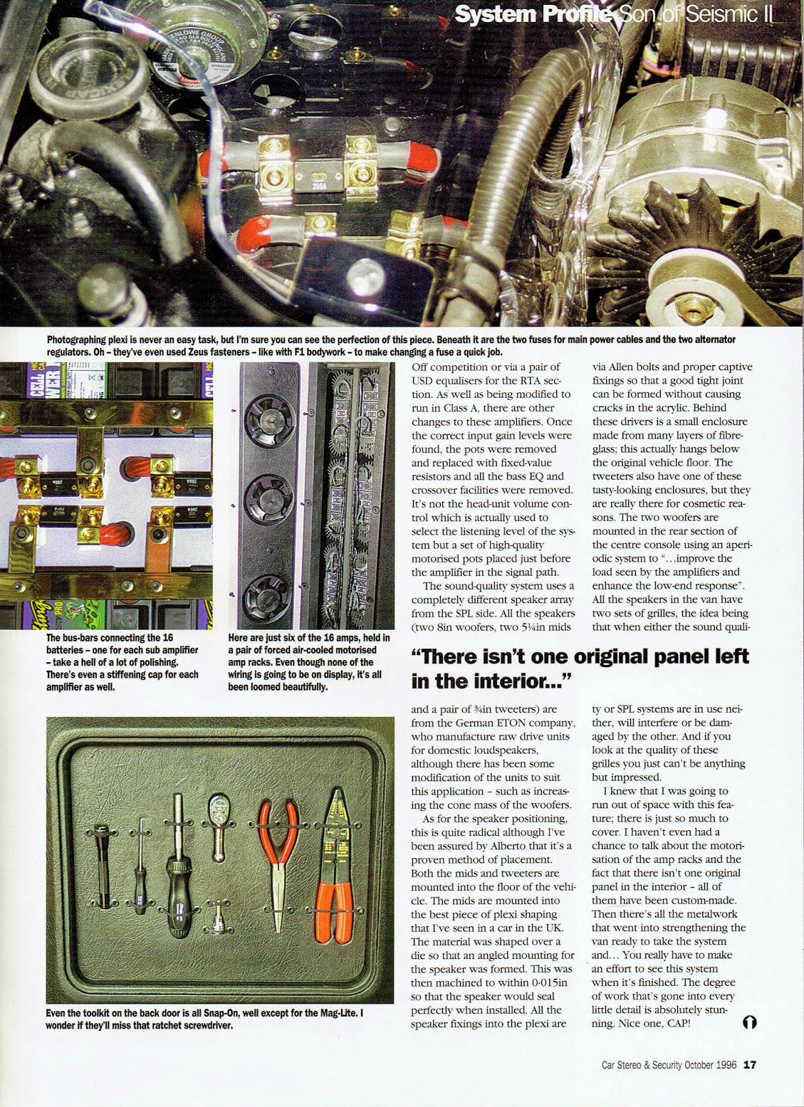 Image of British Car Stereo & Security magazine's Son of Seismic II article - third page