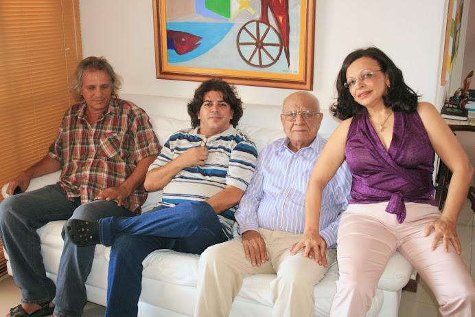 Os amigos da CAP Escola de Tv, Izabel Ceres e Emilton Rosa