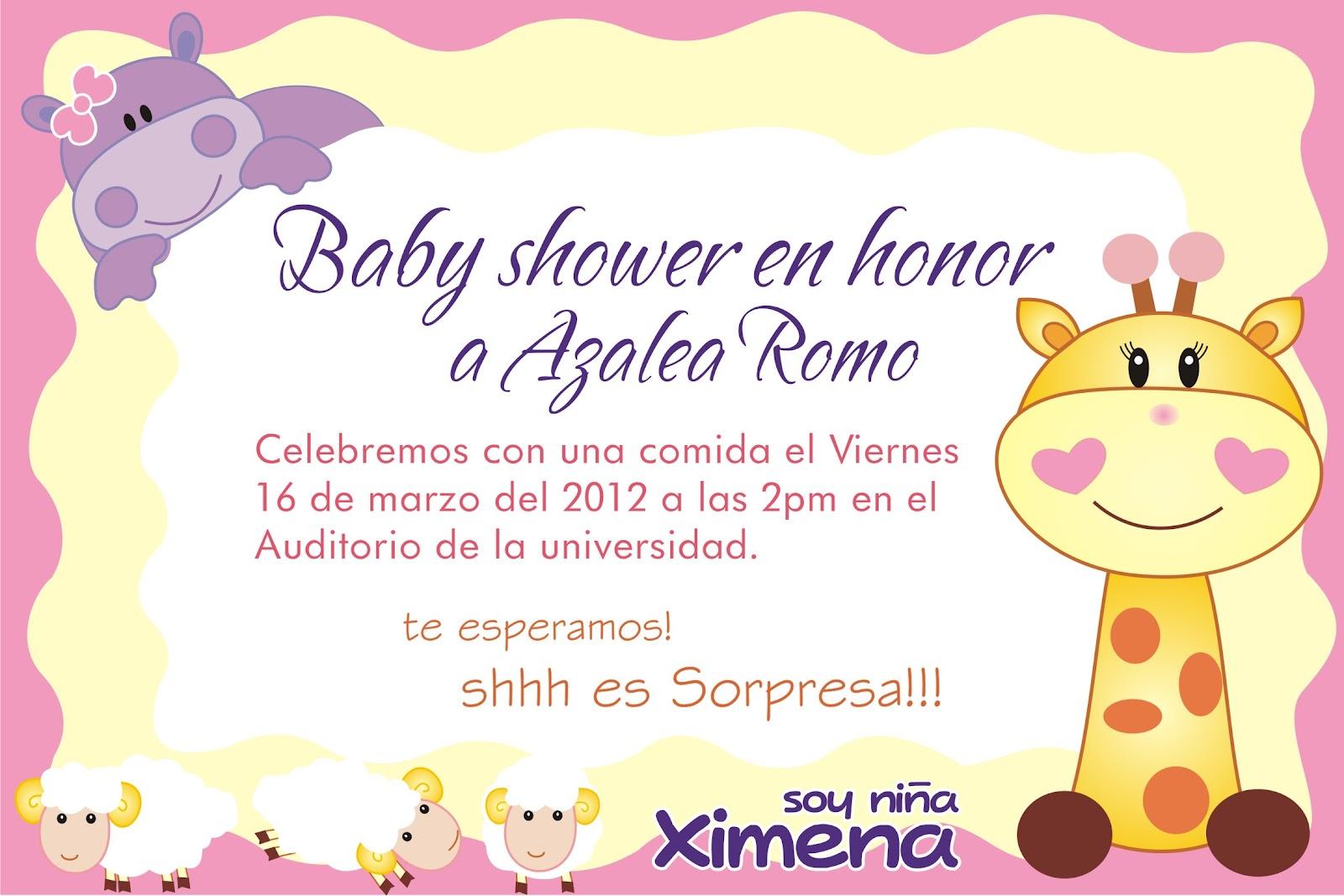 invitaciones para baby shawer: