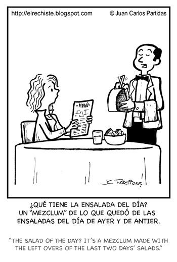 caricatura ensalada