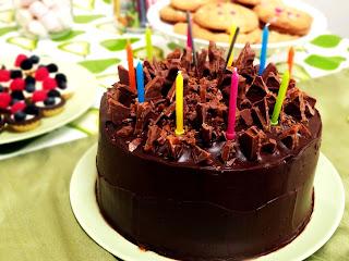 Salted Caramel Chocolate Birthday Cake