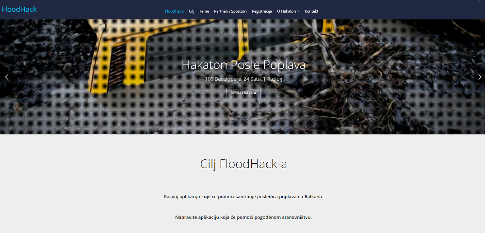 #Floodhack - Hackaton posle poplava