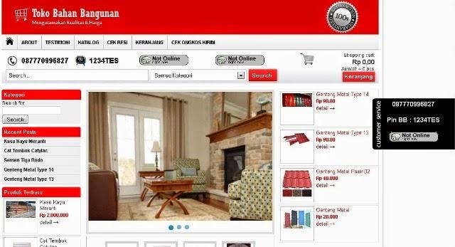 Website Toko Online Bangunan / Material