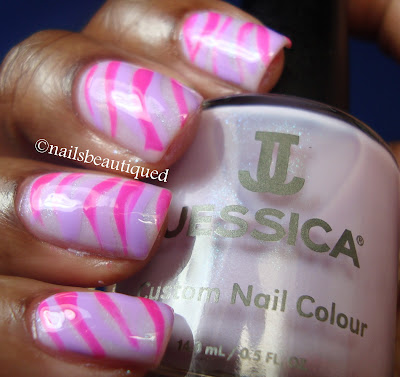 Zebra Stripe Nail Art Design