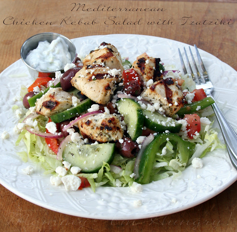 MIH Recipe Blog: Mediterranean Chicken Kebab Salad with Tzatziki