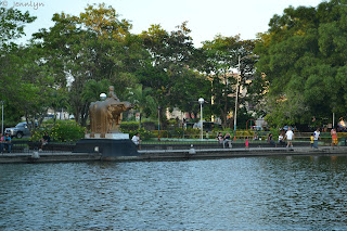 staue and lagoon of Bacolod City